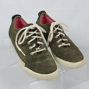 Keds size 4.5 Olive Green Suede and Canvas Sneaker